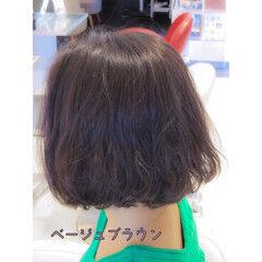 アッシュブラウン ボブ  ボブ ヘアスタイルや髪型の写真・画像