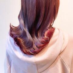 セミロング ナチュラル ピンクベージュ ピンクアッシュ ヘアスタイルや髪型の写真・画像