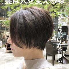 ベリーショート ボブ コンサバ ショートヘア ヘアスタイルや髪型の写真・画像