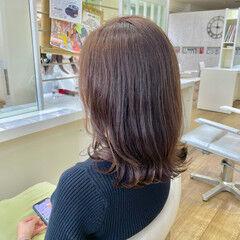 ミディアム 大人ミディアム 大人かわいい ナチュラル ヘアスタイルや髪型の写真・画像