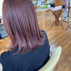 ラベンダーピンク ガーリー 透明感カラー ラベンダー ヘアスタイルや髪型の写真・画像