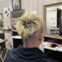 メンズカット ストリート ブリーチカラー メンズヘア ヘアスタイルや髪型の写真・画像