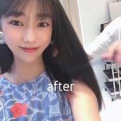 インナーカラー 髪質改善トリートメント オリーブカラー ロング ヘアスタイルや髪型の写真・画像