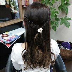 ナチュラルグラデーション セミロング グラデーションカラー 簡単ヘアアレンジ ヘアスタイルや髪型の写真・画像