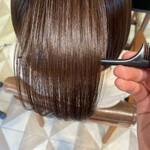 ツヤ髪 ボブ 髪質改善トリートメント 内巻き