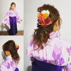 中津市ヘアセット ヘアセット 卒業式 ロング ヘアスタイルや髪型の写真・画像