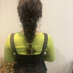 編みおろしヘア ヘアセット ヘアアレンジ 編みおろし ヘアスタイルや髪型の写真・画像