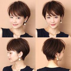田丸麻紀 吉瀬美智子 ナチュラル 大人ショート ヘアスタイルや髪型の写真・画像