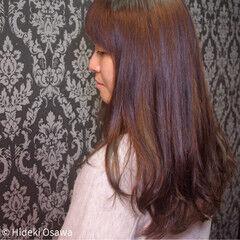 ロング エレガント 上品 アメジスト ヘアスタイルや髪型の写真・画像