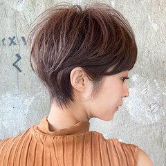 ショートヘア ショート ガーリー ショートボブ ヘアスタイルや髪型の写真・画像