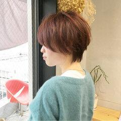 スポーツ アプリコットオレンジ アプリコット ナチュラル ヘアスタイルや髪型の写真・画像