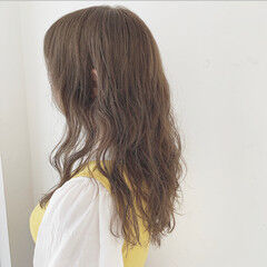 大人ロング パーマ セミロング ママヘア ヘアスタイルや髪型の写真・画像
