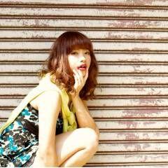 外国人風 ミディアム グラデーションカラー ストリート ヘアスタイルや髪型の写真・画像