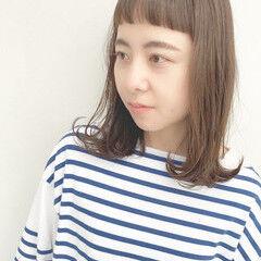 髪質改善 モテ髪 ミディアム 前髪 ヘアスタイルや髪型の写真・画像
