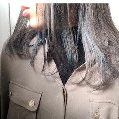 ショートヘア インナーカラー ストリート ショートボブ ヘアスタイルや髪型の写真・画像
