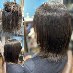 最新トリートメント 髪質改善トリートメント ガーリー ミディアム ヘアスタイルや髪型の写真・画像