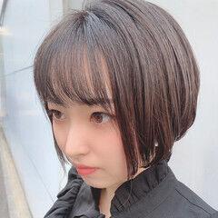ミニボブ 黒髪 ショートボブ 大人可愛い ヘアスタイルや髪型の写真・画像