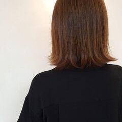 ニュアンス ナチュラル セミロング 外ハネ ヘアスタイルや髪型の写真・画像