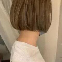 ミニボブ 夏 ハイライト ボブ ヘアスタイルや髪型の写真・画像