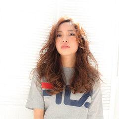 ストリート 外国人風 グラデーションカラー セミロング ヘアスタイルや髪型の写真・画像