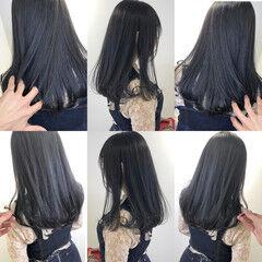 ロング ナチュラル 透明感カラー 暗髪 ヘアスタイルや髪型の写真・画像