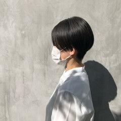 モード ハンサムショート マット ショートヘア ヘアスタイルや髪型の写真・画像