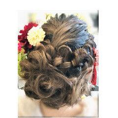 ロング エレガント アップスタイル 成人式 ヘアスタイルや髪型の写真・画像