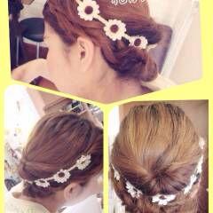 大人かわいい 編み込み ショート 簡単ヘアアレンジ ヘアスタイルや髪型の写真・画像