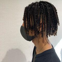 スパイラルパーマ 外国人風パーマ ドレッド ストリート ヘアスタイルや髪型の写真・画像