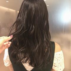 ロング ナチュラル ブルーブラック 黒髪 ヘアスタイルや髪型の写真・画像