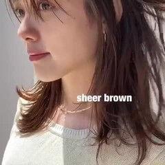 透明感カラー ヘアアレンジ ミディアム ウェットヘア ヘアスタイルや髪型の写真・画像