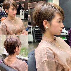 吉瀬美智子 辺見えみり ナチュラル ショート ヘアスタイルや髪型の写真・画像