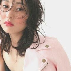 ストリート 甘辛MIX パーマ 黒髪 ヘアスタイルや髪型の写真・画像