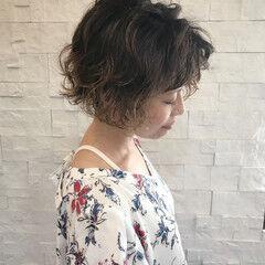 アンニュイ ゆるふわ ショート 大人女子 ヘアスタイルや髪型の写真・画像