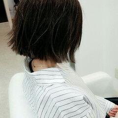 おかっぱ デート 黒髪 ナチュラル ヘアスタイルや髪型の写真・画像