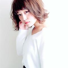 丸顔 ベース型 エフォートレス 外国人風 ヘアスタイルや髪型の写真・画像