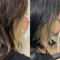 大人ハイライト インナーカラー ナチュラルグラデーション ナチュラル ヘアスタイルや髪型の写真・画像