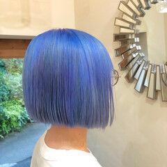 ストリート ハイライト バレイヤージュ ユニコーンカラー ヘアスタイルや髪型の写真・画像