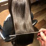 ロング 縮毛矯正 髪質改善カラー ナチュラル