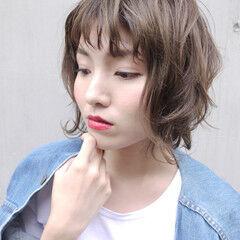 ショート ウェーブ マッシュMIX マッシュ ヘアスタイルや髪型の写真・画像