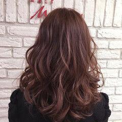 ストリート イルミナカラー 大人かわいい ピンク ヘアスタイルや髪型の写真・画像