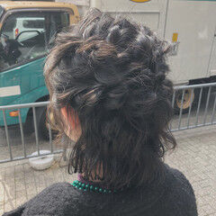 ヘアアレンジ ショート フェミニン ヘアセット ヘアスタイルや髪型の写真・画像