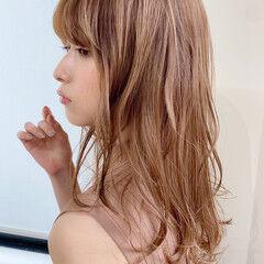 セミロング アンニュイほつれヘア ナチュラル 毛先パーマ ヘアスタイルや髪型の写真・画像