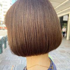 ミニボブ ショートボブ 切りっぱなしボブ ボブ ヘアスタイルや髪型の写真・画像