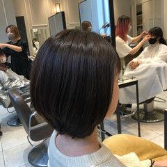 ショートボブ ナチュラル ショート 大人かわいい ヘアスタイルや髪型の写真・画像