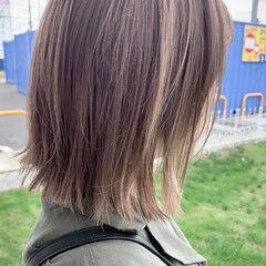 ナチュラル 透明感カラー ミルクティーベージュ 大人かわいい ヘアスタイルや髪型の写真・画像