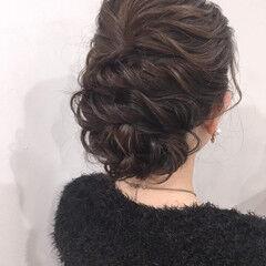 パーティヘア ヘアアレンジ ミディアム デート ヘアスタイルや髪型の写真・画像