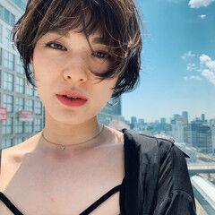 阿藤俊也 ショート PEEK-A-BOO グラボブ ヘアスタイルや髪型の写真・画像