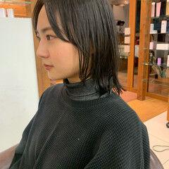 レイヤーボブ ネオウルフ ボブウルフ ウルフカット ヘアスタイルや髪型の写真・画像