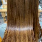 ロング 髪質改善トリートメント インナーカラー ミニボブ